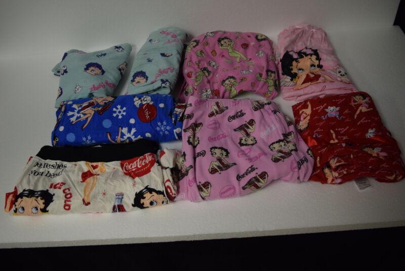 Lot of 8 Betty Boop Sleepwear Tops & Bottoms - Coke - Love - Pudgy