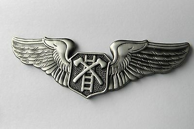 FIRE SERVICE AIR RESCUE WINGS FIREFIGHTER LARGE LAPEL PIN BADGE 3 INCHES