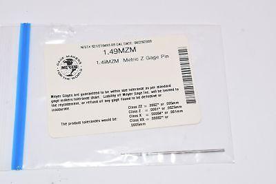 New Meyer Gage 1.49mzm Minus Z Pin 1.49 Mm E52100
