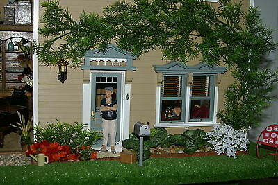 "Victorian Cottage Gardens - 1970 UNIQUE ARTIST BUILT COLLECTOR 1/12 DOLL HOUSE 5ftx4ftx32"" 14 rooms gardens"