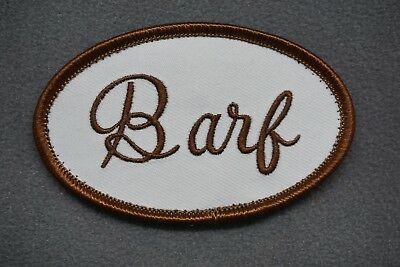 Space Balls Costumes (BARF UNIFORM MORALE PATCH - spaceballs costume cosplay movie accurate john)
