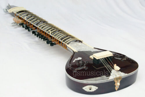 SITAR FUSION PEARL ELECTRIC WITH GIG BAG GSM014G UK