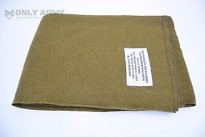 US Army Wool Blanket Military Bedding Premium Quality Mustard Brown WW2 Pattern