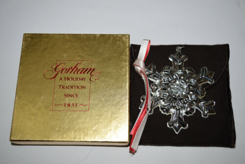 Gorham Annual Sterling Snowflake Ornament 1995 Used Bad Box No Card