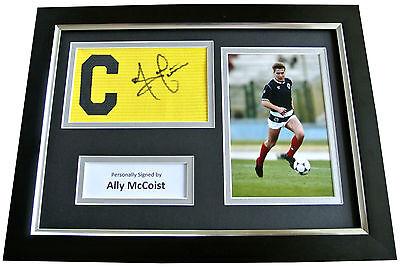 ALLY McCOIST Signed FRAMED Captains Armband Photo A4 Display RANGERS PROOF & COA