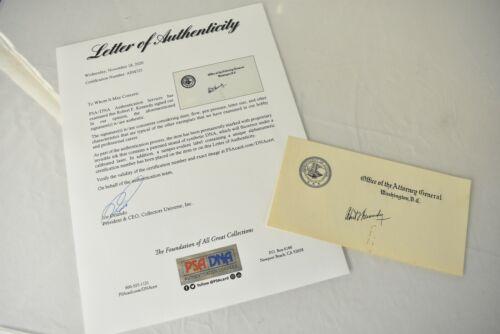 Robert F. Kennedy RFK DOJ Autographed Signed Attorney General PSA/DNA COA