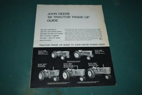 Vintage John Deere Original 1966 Tractor Trade-Up Guide Flyer Brochure