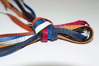 FLAT WAXED Sport Cotton Shoelaces Sneakers Casual Colored Shoe Laces Boot (Sport Shoelaces)