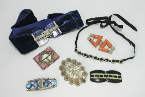 Lot Antique Victorian Belt Buckles Jewelry