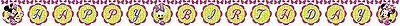 e 2,2 m Happy Birthday Banner - Party Wimpel Dekorationen (Minnie Maus Happy Birthday Banner)