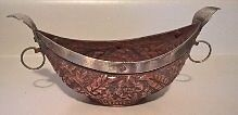 Antique Islamic Middle Eastern Kashkul Copper Candle Holder