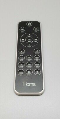 Genuine iHome Dual Dock Alarm Clock Radio Stereo OEM Remote Control Replacement