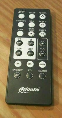 ATLANTIS ALARM CLOCK RADIO REMOTE CONTROL - ORIGINAL C
