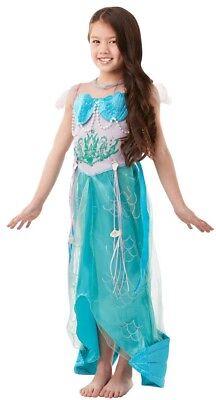 Mädchen Deluxe Kleine Meerjungfrau Prinzessin Buch Tag Woche Verkleidung Kleid ()
