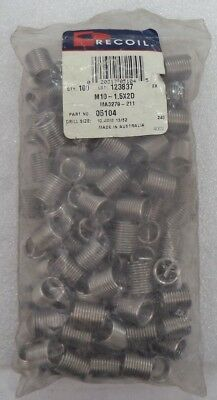 1//2 in  pack of 10 RECOIL 28149  TANGED SPARKPLUG INSERT M14-1.25