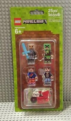 New Lego Minecraft Skin Pack  1 853609 Minifigure Accessory Set