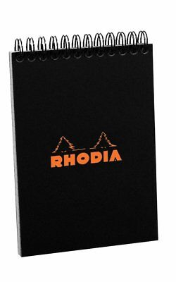Rhodia Top Wirebound - Pad - Black - Graph - 80 Sheets - 4 X 6 - New R135009