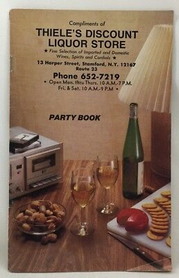 1984 Thiele's Discount Liquor Store Party Book Catalog Gifts Drink Recipes - Discount Party Store