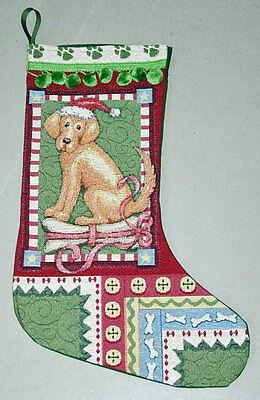 Dog Tapestry Christmas Stocking ()