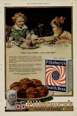 Cute Scene Boy (1919 PILLSBURY'S FLOUR AD / CUTE BOY-GRIL MUFFIN)