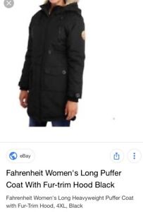 Ladies Large winter coat brand new tag attached
