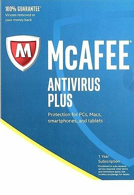 Mcafee Antivirus Plus  1 Pc  1 Year Subscription Windows