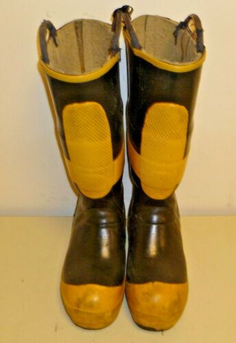 Ranger FireMaster Firefighter Turnout Gear Rubber Boots Steel Toe Size 7 R214