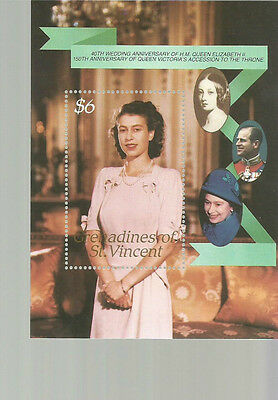 ST VINCENT ROYAL FAMILY SCOTT 573 MNH