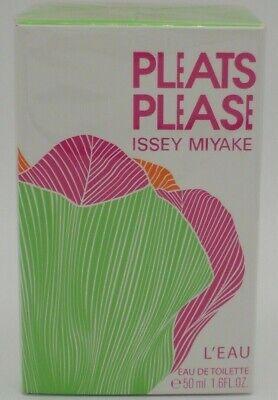 Pleats Please L'Eau by Issey Miyake 1.6oz / 50ml EDT Women New in Sealed Box.