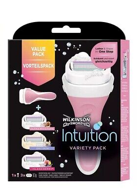 Wilkinson Sword Intuition Variety Razor Blades with 3 for Women Variety Pack