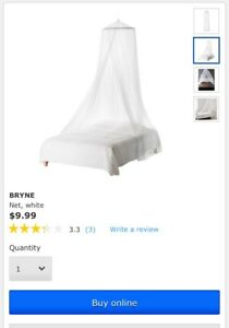 IKEA white bed net brand new $5