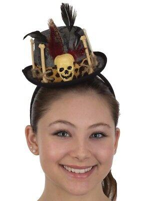 Womens Mini Witch Doctor Top Hat Headband Voodoo Cap Costume Accessory