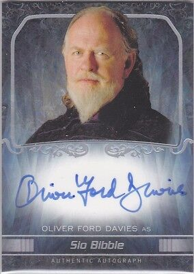 Name WARS 2015 TOPPS MASTERWORK OLIVER FORD DAVIES AS SIO BIBBLE AUTOGRAPH AUTO
