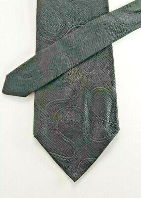 1960s – 70s Men's Ties | Skinny Ties, Slim Ties 1960s RHODIA Acetate Woven in FRANCE Elegant Black Textured Neck Tie 4