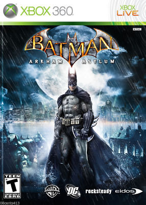 Batman: Arkham Asylum (Xbox 360) *NO MANUAL* for sale  Shipping to India