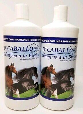 2X SHAMPOO de CABALLO a la Biotina con Colageno y Aloe Vera 960ML, 32FLOZ