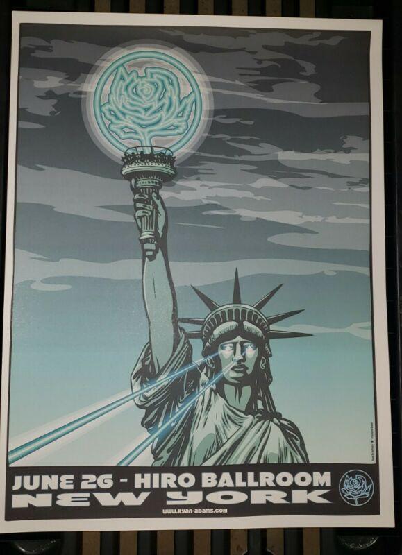 RYAN ADAMS New York 2012 Tour Poster Cardinals Lithograph NYC Statue Liberty