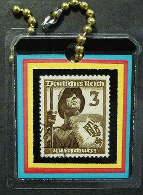 Germany, World War II Stamp Key Tag, Lamination, New