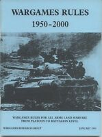 Wrg: Wargames Rules 1950-2000 By Phil Barker - wargames research group - ebay.co.uk