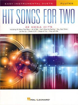 22 Hit Songs for Two Easy Instrumental Duets Noten für 2 Querflöte(n)
