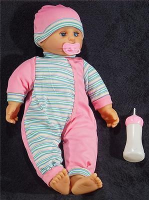 40 cm Babypuppe mit Puppenzubehör Kinderpuppe Weichkörperpuppe Spielpuppe Puppe