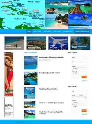 Caribbean Travel Website Business For Sale Mobile Responsive Site