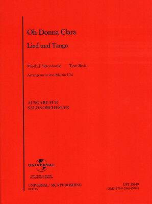 Oh Donna Clara! Tango Noten für Combo Salonorchester Martin Uhl (Arr.)