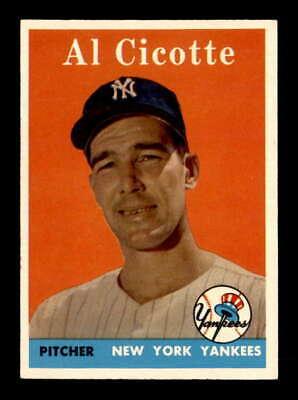 1958 Topps #382 Al Cicotte  EX+ X1844071