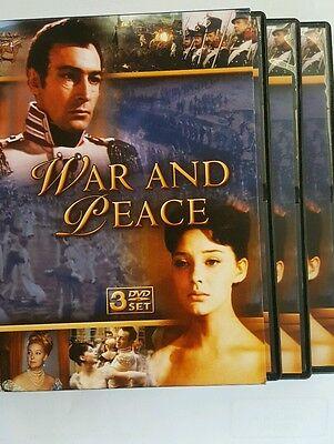 WAR AND PEACE (DVD, 3DISC SET W/Box) Academy Award Winner-Best Foreign Film