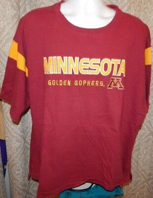 Pro Player MINNESOTA GOLDEN GOPHERS Maroon SS Jersey Style Shirt Men's 2XL ()