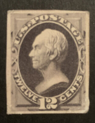 TDStamps: US Stamps Scott#162P4 Unused H NG Corner Lightly Crease Proof