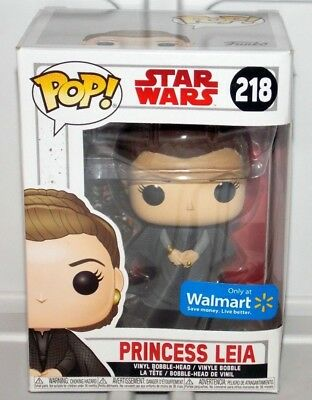 Funko POP! Star Wars The Last Jedi Princess Leia #218 Figure Walmart Exclusive