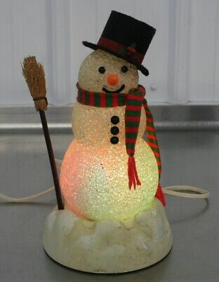 Vintage Avon Gift Collection Chilly Sam Light-Up Snowman WORKS