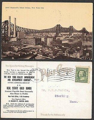 1911 Advertising Postcard - New York City Development Company Issuance of Bonds